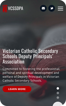 Engaging digital solutions for the education industry and beyond! - VCSSDPA - Custom WordPress Website in Melbourne, Australia