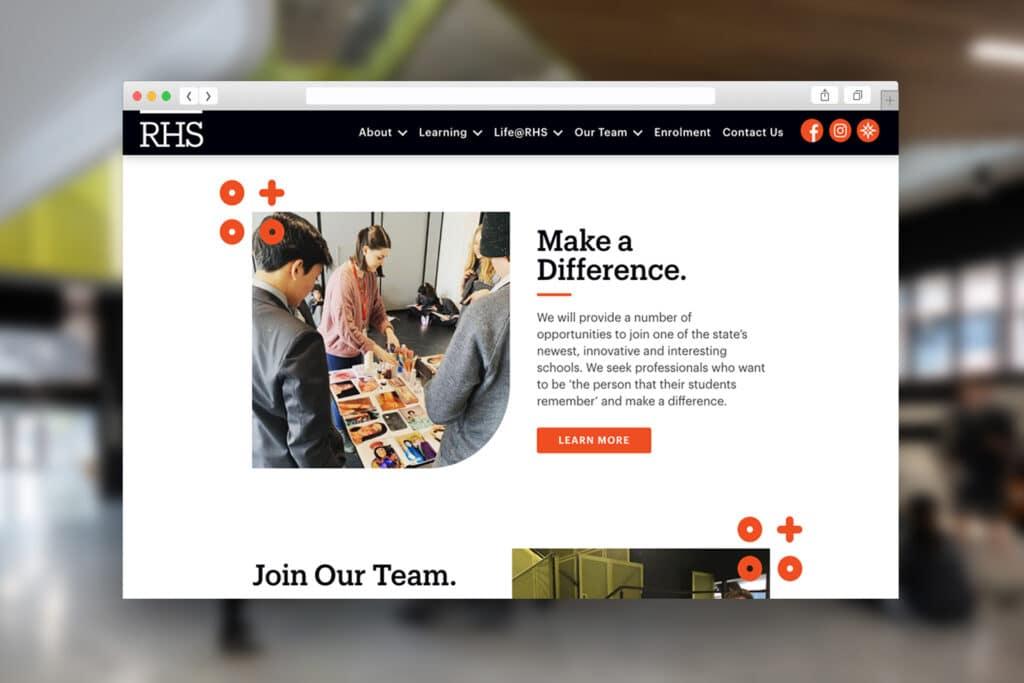Richmond High School - Website - Beyond Web